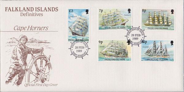 Falkland Islands 1989 Ships of Cape Horn FDCc