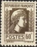 France 1944 Series d'Algiers (Cock of Alger and Marianne of Fernez) i