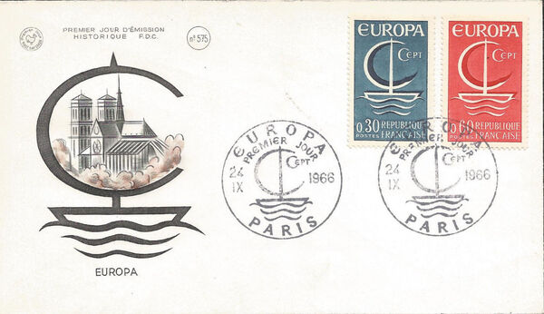 France 1966 EUROPA FDCc