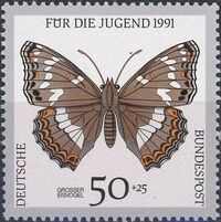 Germany-Unified 1991 Endangered Butterflies b
