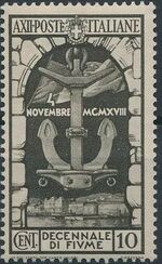 Italy 1934 10th Anniversary of Annexation of Fiume a