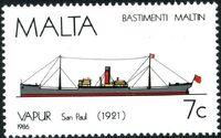 Malta 1986 Maltese Ships (4th Series) a