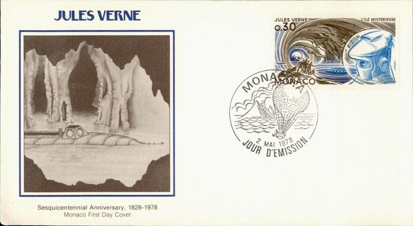 Monaco 1978 Birth Sesquicentennial of Jules Verne FDCk