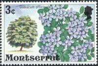 Montserrat 1976 Flowering Trees c
