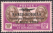 New Caledonia 1933 Definitives of 1928 Overprinted y