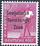 Russian Zone 1948 Overprint - Sowjetische Besatzungs Zone l