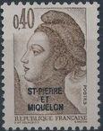 St Pierre et Miquelon 1986 Liberty from France Overprinted ST-PIERRE ET MIQUELON e