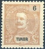 Timor 1903 D. Carlos I - New Values and Colors c