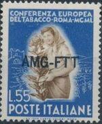 Trieste-Zone A 1950 European Tobacco Conference c