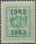 Belgium 1962 Heraldic Lion with Precancellations i