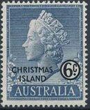 Christmas Island 1958 Queen Elizabeth II d