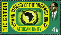 Gambia 1973 10th Anniversary of the OAU a