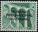 Switzerland 1950 Landscapes and Technology Official Stamps for The International Labor Bureau j