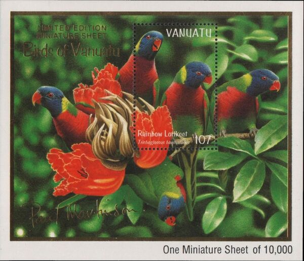 Vanuatu 1999 Bush and Lowland Birds f