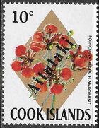 Aitutaki 1972 Flowers from Cook Islands Overprinted AITUTAKI f