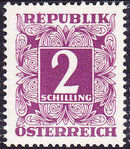 Austria 1949 Postage Due Stamps - Square frame with digit (1st Group) o