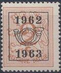 Belgium 1962 Heraldic Lion with Precancellations a