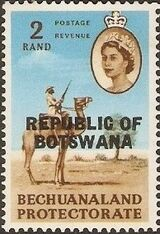 Botswana 1966 Overprint REPUBLIC OF BOTSWANA on Bechuanaland 1961 n