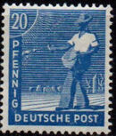 Germany-Allied Occupation 1947 2nd Allied Control Council Issue f