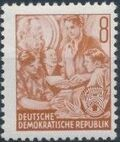 Germany DDR 1953 Workers For The Five-year Plan d