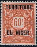 Niger 1921 Postage Due Stamps of Upper Senegal and Niger Overprinted g