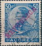 Azores 1911 D. Manuel II Overprinted REPUBLICA g