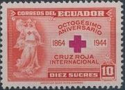Ecuador 1944 80th Anniversary of the International Red Cross d