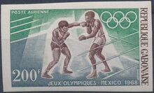Gabon 1968 19th Summer Olympic Games Mexico City i