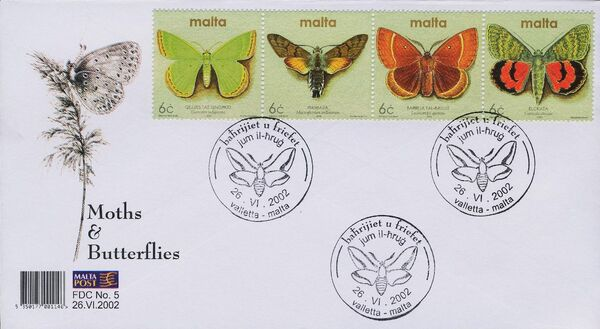 Malta 2002 Butterflies and Moths ac