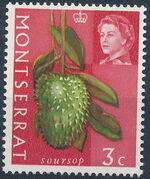 Montserrat 1965 Fruit & Vegetables and Portrait of Queen Elizabeth II c