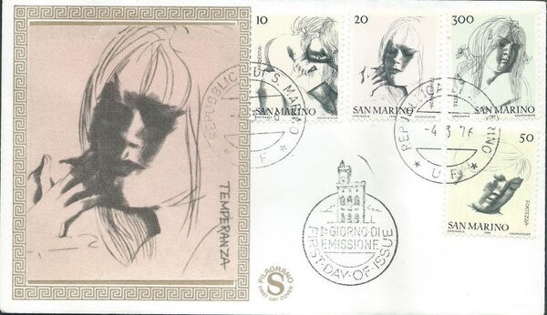 "San Marino 1976 ""Civic Virtues"" FDCa"