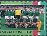 Sierra Leone 1990 Football World Cup in Italy t