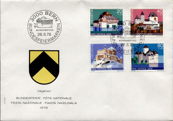 Switzerland 1978 PRO PATRIA - Castles FDCa