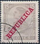 Azores 1911 D. Manuel II Overprinted REPUBLICA d