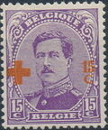 Belgium 1918 King Albert I (Red Cross Charity) e