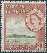 British Virgin Islands 1964 Queen Elizabeth II and Views m