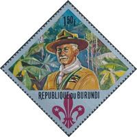 Burundi 1967 60th Anniversary of the Boy Scouts and the 12th Boy Scout World Jamboree c