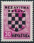 Croatia 1941 Peter II of Yugoslavia Overprinted in Black o