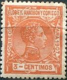 Elobey, Annobon and Corisco 1907 King Alfonso XIII c