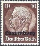 German Occupation-Luxembourg 1940 Stamps of Germany (1933-1936) Overprinted in Black f