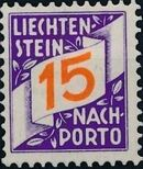 Liechtenstein 1928 Postage Due Stamps (Swiss Administration of the Post Office) c