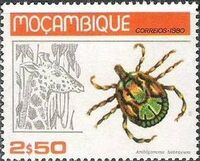 Mozambique 1980 Ticks from Mozambique c