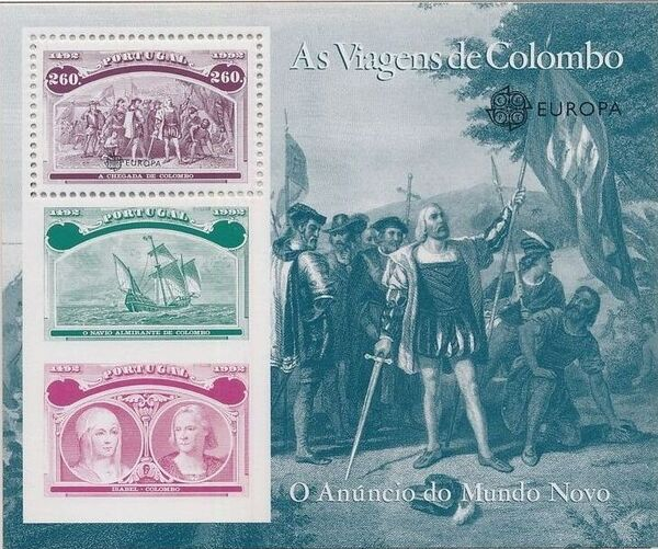 Portugal 1992 EUROPA - 5th Centenary of Discovery of America SSd