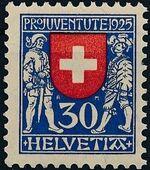 Switzerland 1925 PRO JUVENTUTE - Coat of Arms d