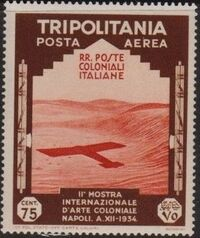 Tripolitania 1934 2nd Colonial Arts Exhibition in Naples-Air Post i