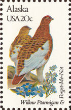United States of America 1982 State birds and flowers b