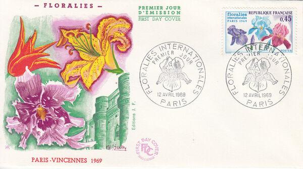 France 1969 3rd International. Flower Show in Paris FDCb