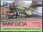 St Lucia 1983 Leaders of the World - LOCO 100 v