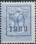 Belgium 1963 Heraldic Lion with Precancellations h