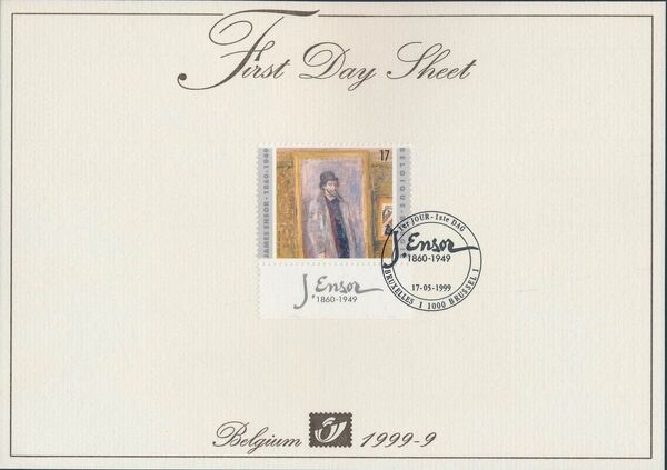 Belgium 1999 50th Anniversary of the Death of James Ensor FDSa